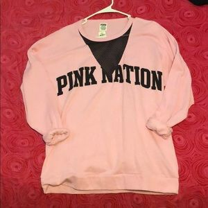 Pink Nation Crew Neck